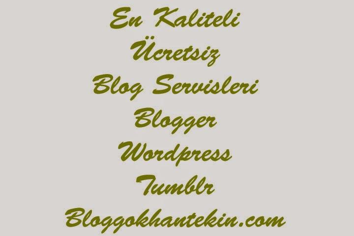 Bana Göre En Kaliteli Ücretsiz Blog Servisleri
