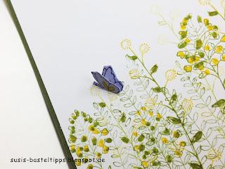 """stampin up sale a bration 2016 Karte """"Flowering Fields"""" schmetterling"""
