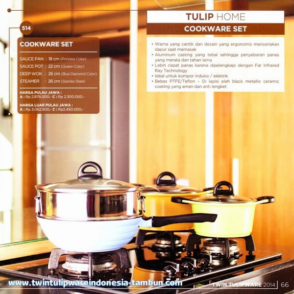 Cookware Set, Panci Tulipware 2014