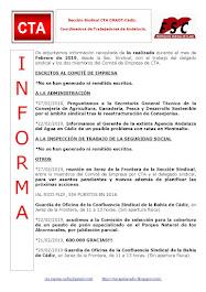 C.T.A. INFORMA, LO REALIZADO EN FEBRERO DE 2019