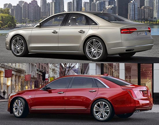 cadillac ct6 audi a8 new compare profile