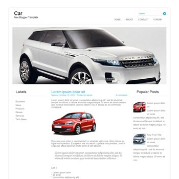 Car blog template. download blogger template clean and minimalist