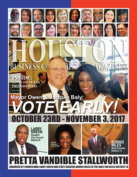 VOTE TUESDAY, NOVEMBER 7, 2017 EDITION OF HBC MAGAZINE© FEATURING MAYOR OWEN