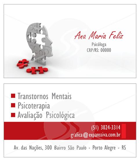 cartoes de visita de psicologia em sao paulo - Cartões de Visita para Psicólogos