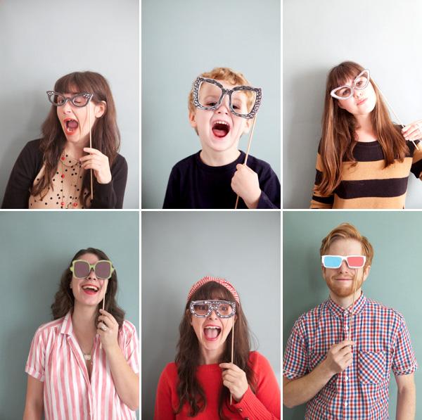Gafas Locas: Imágenes para Photo Booth para Imprimir Gratis.