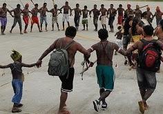 Munduruku arriving in Brasília.