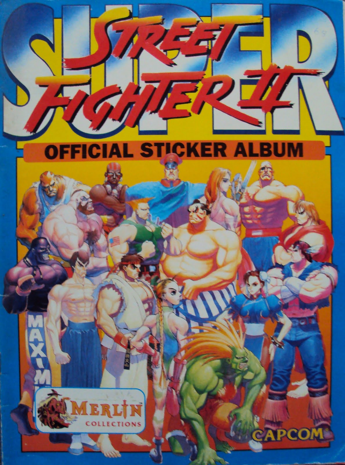 Not long afterwards capcom released super street fighter 2 and merlin were hot on their heels with the sticker book this super sf2 release introduced us to