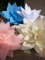Handmade Felt Lotus Hairclip by Margo is Crafty