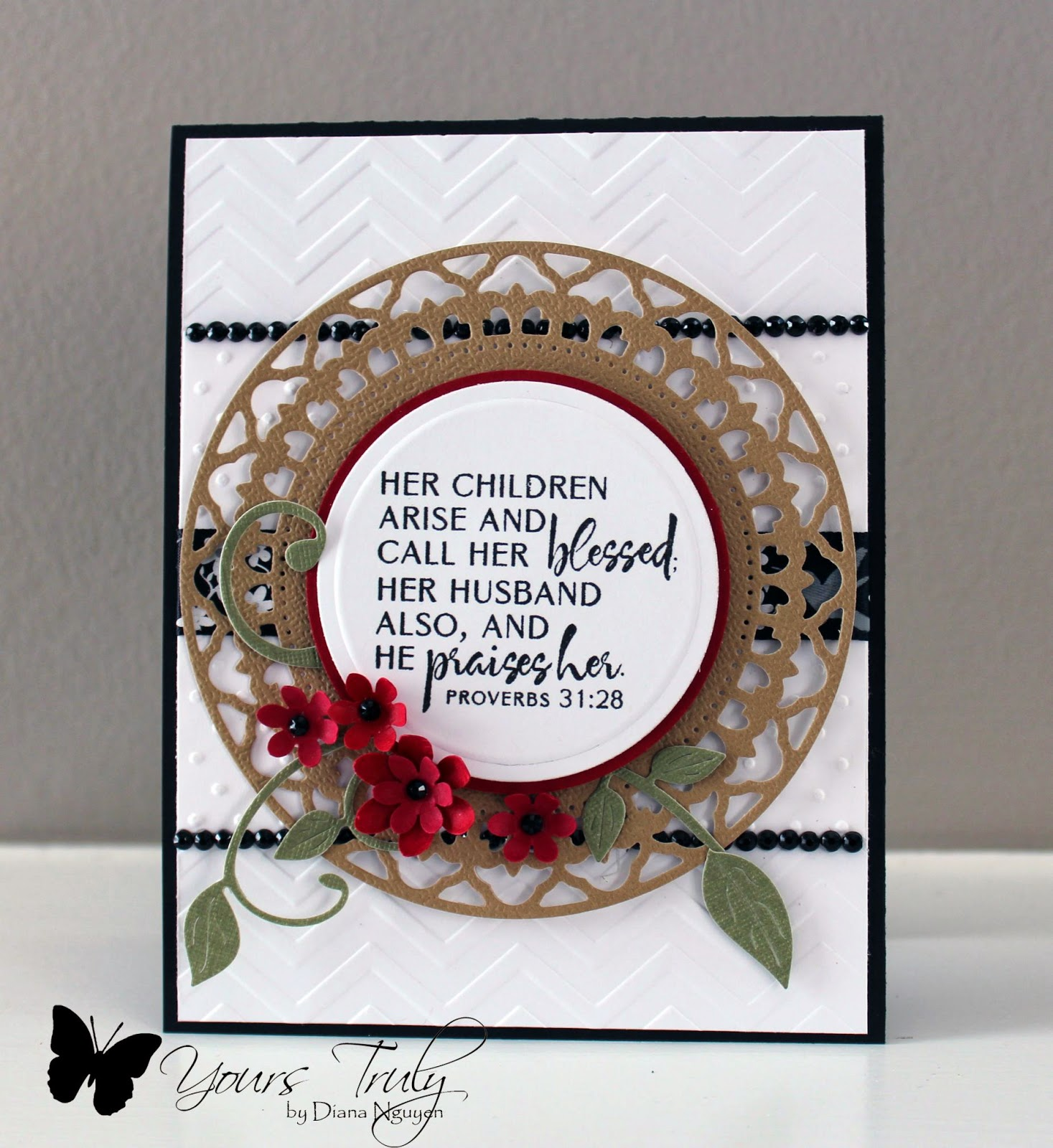Diana Nguyen, Verve, Mother, handmade card