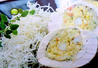 Receptes amb pollastre - pollastre de pages amb marísc