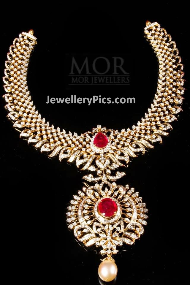 Rose cut Classic diamond necklace
