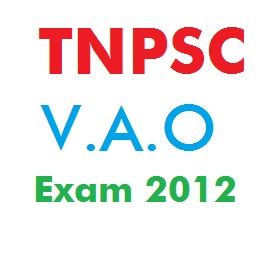 Tnpsc vao exam answer key 2012 tamil