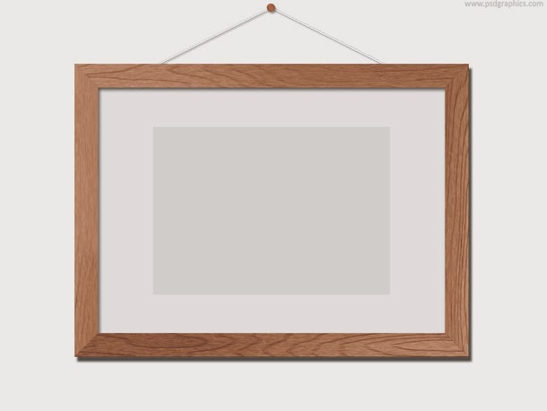 Wooden Photo Frame Template PSD