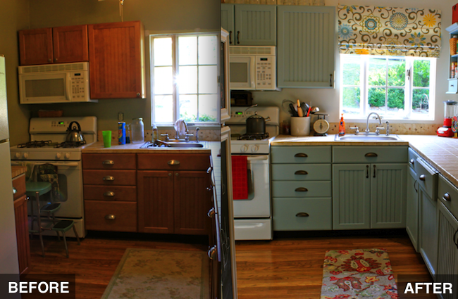 Kitchen cabinets diy kitchen cabinets for Diy small kitchen remodel