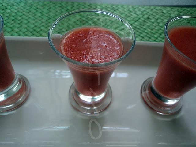 Gazpacho para aperitivo