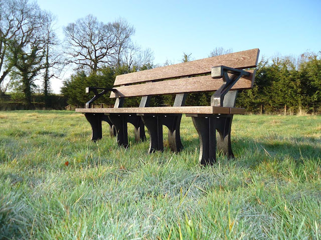 Recycled Garden Bench with arms
