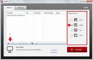 Aplikasi Freeware pengubah file .PDF Menjadi Gambar .JPG dengan mudah.