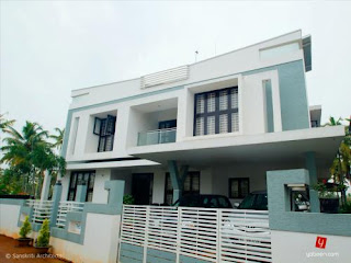 Kerala home in 2000 sq ft house plans under 3000 sq feet for House plans 2000 to 3000 square feet