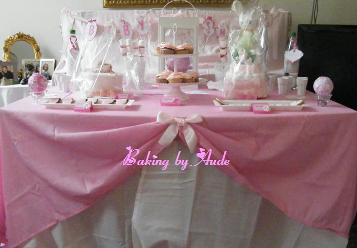Baking by aude sweet table baby shower pour candice - Decoration pour baby shower ...