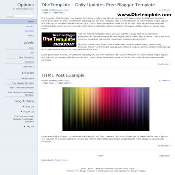Chrome Options blogger template. minimalist design template blogger template