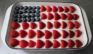 No-Bake Cheesecake Flag Cake Miela Tahril