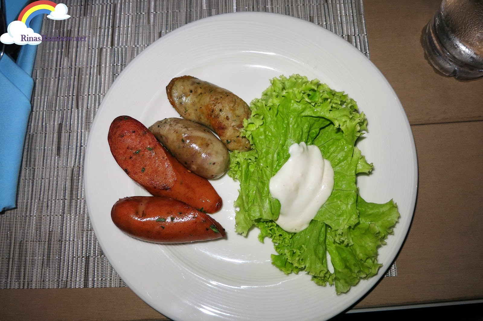 sausage and salad
