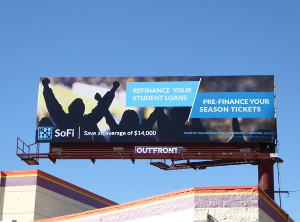 SoFi Pre-finance season tickets billboard