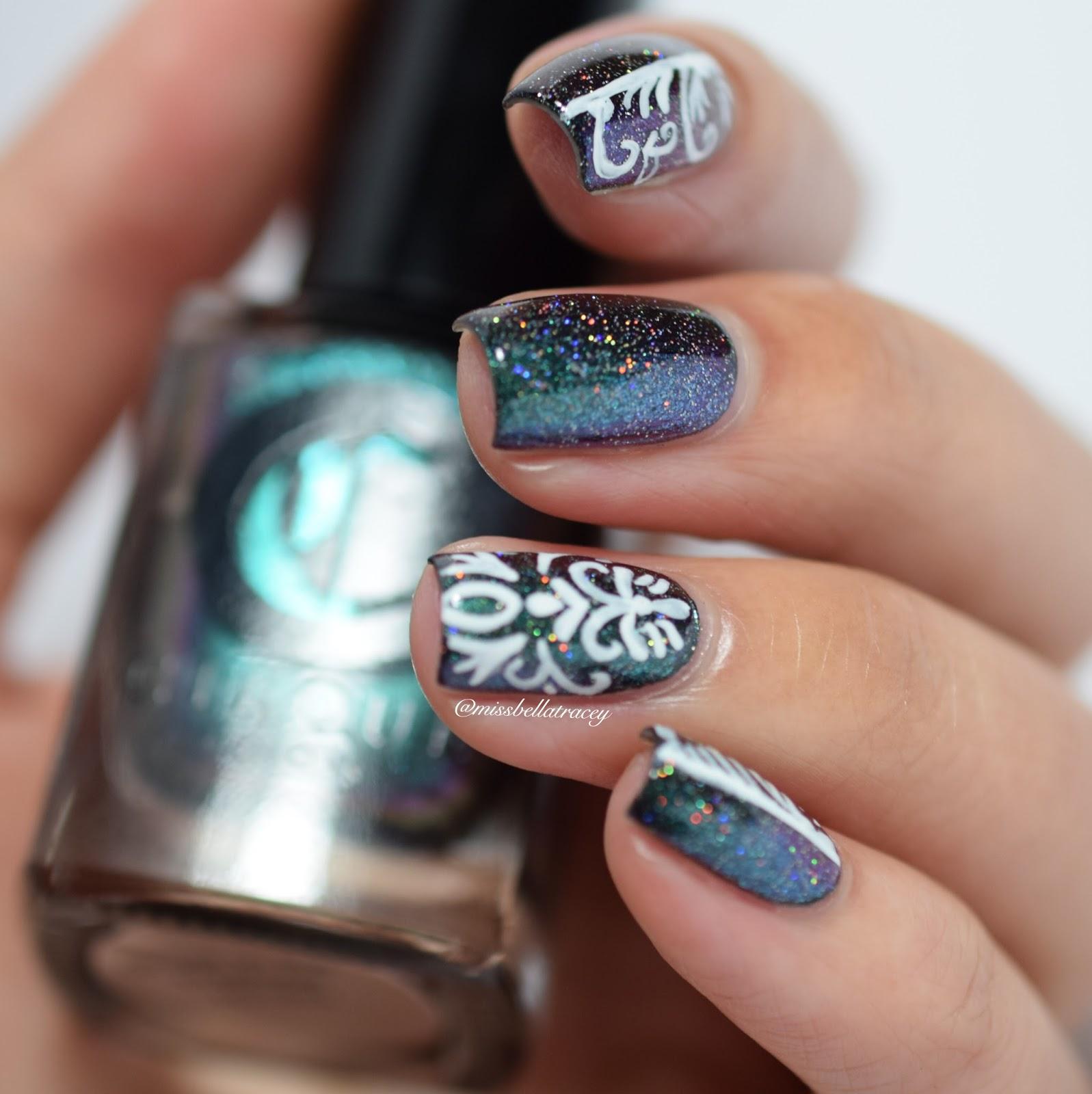 MissBellaTracey: WNAC - Holo Damask Nail Art - BTN