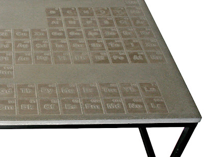 Periodic Concrete Coffee Table By James Dewulf Is A Formula For Hip Home Decor If It 39 S Hip It