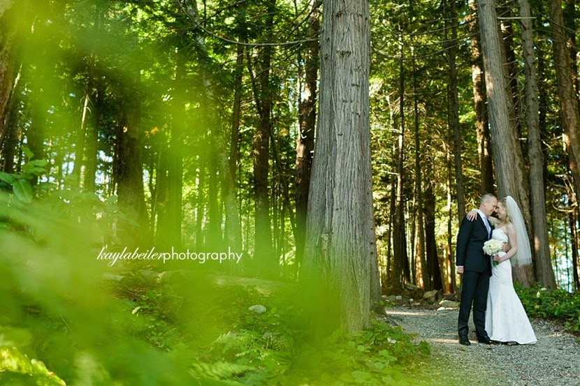 sunshine coast bc forest wedding photo