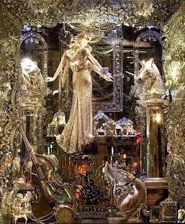 New York, holiday windows, Bergdorf Goodman