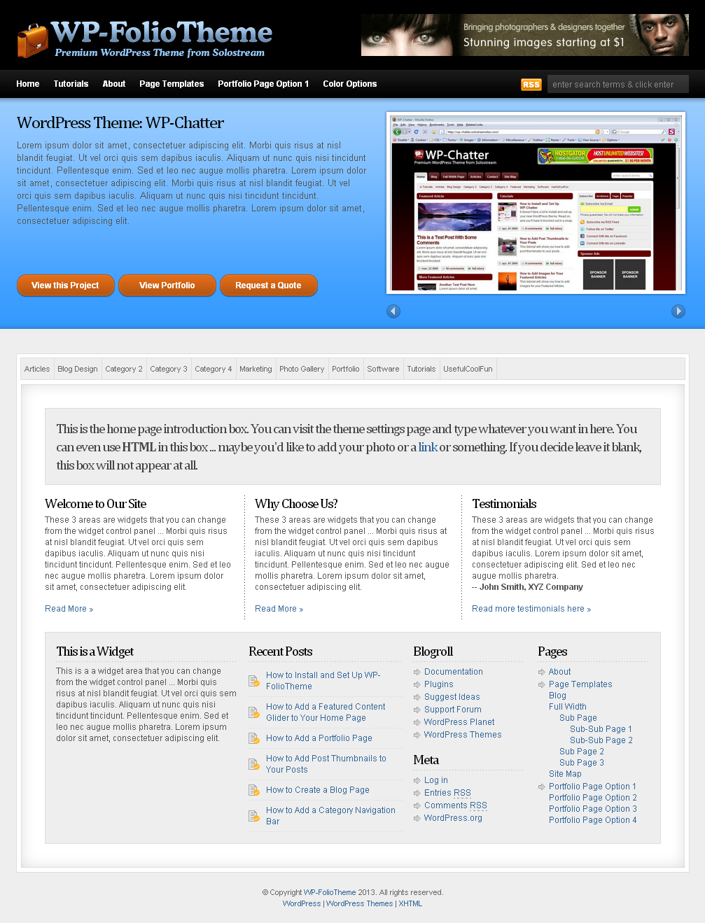 WP FolioTheme