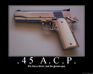 funny weapons fail picture grown ups hand gun