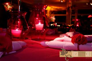 festa Victoria Secret, porta guardanapo pompom pink e rosa claro, festa