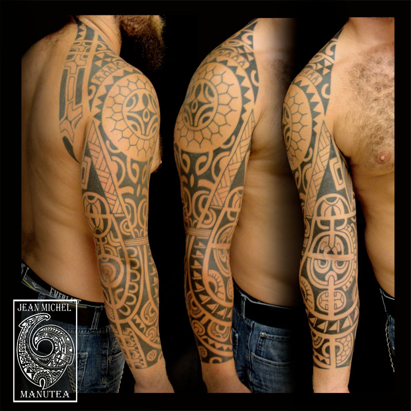 Two Polynesian Tattoo Inspired By Divers French Polynesian Designs