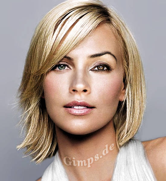 hairstyles for long hair with fringe. short bangs. hairstyle