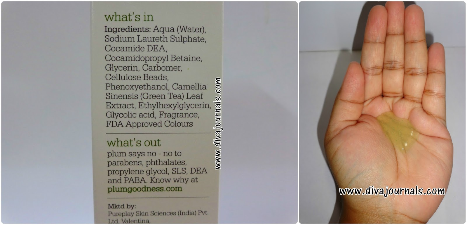 Plum Green Tea Pore Cleansing Face wash Review