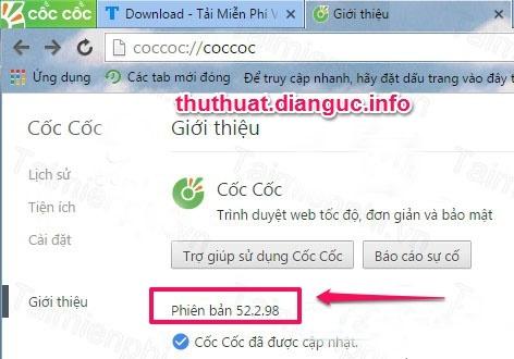 Download Cốc Cốc 52.2.98 mới nhất (Tiếng Việt)