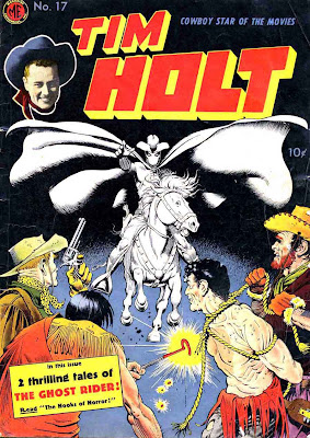 Tim Holt v1 #17 golden age western comic book cover art by Frank Frazetta