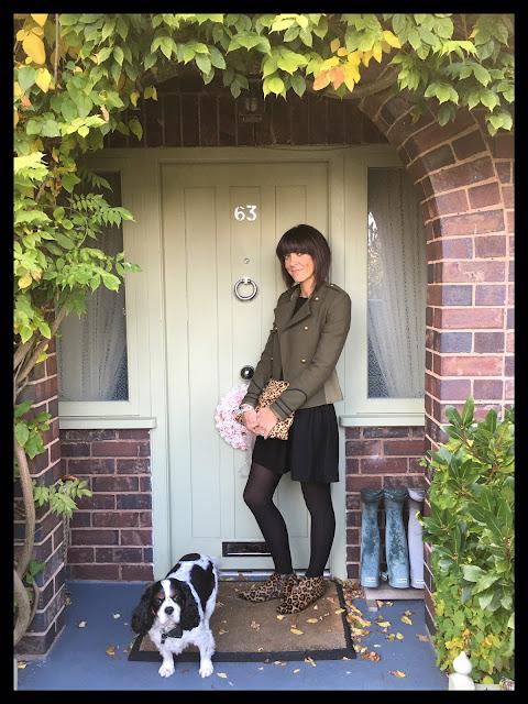 My Midlife Fashion, Hush Willow Knit Dress, Joni Leopard Print Ankle Boots, Leopoard Print, Animal Print, Military, Zara, Military Jacket
