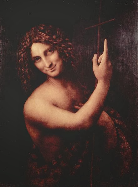 "Painting ""St. John the Baptist"" by Leonardo da Vinci, 1513-1516"