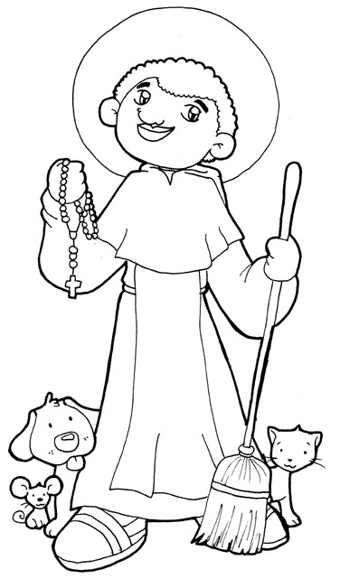 St. Martin De Porres Coloring Page