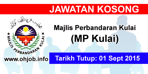 Jawatan Kerja Kosong Majlis Perbandaran Kulai (MPKulai) logo www.ohjob.info septembet 2015