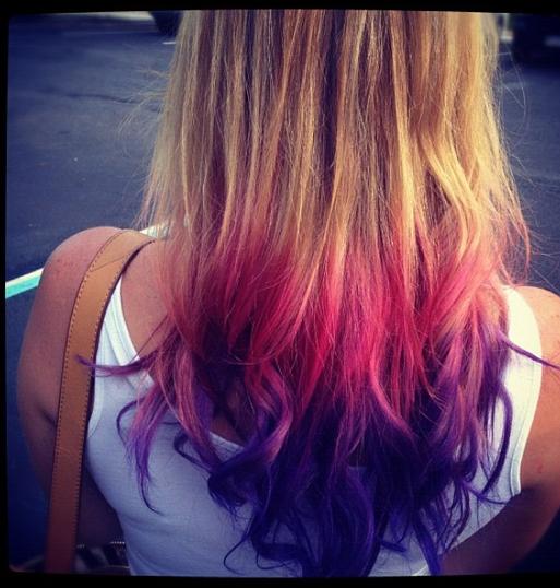 Colorful Rainbow Ombre Hair Ombre Hair Tie Rainbow