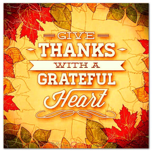 ThanksGiving Wishes To Friends And Family, Thanksgiving Thoughts