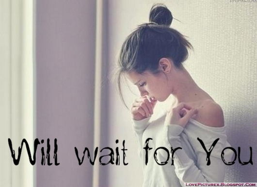 sad girl alone will wait for you