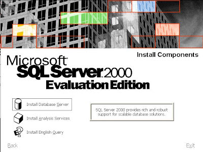 """Escolha a opção """"Instal Database Server"""""""