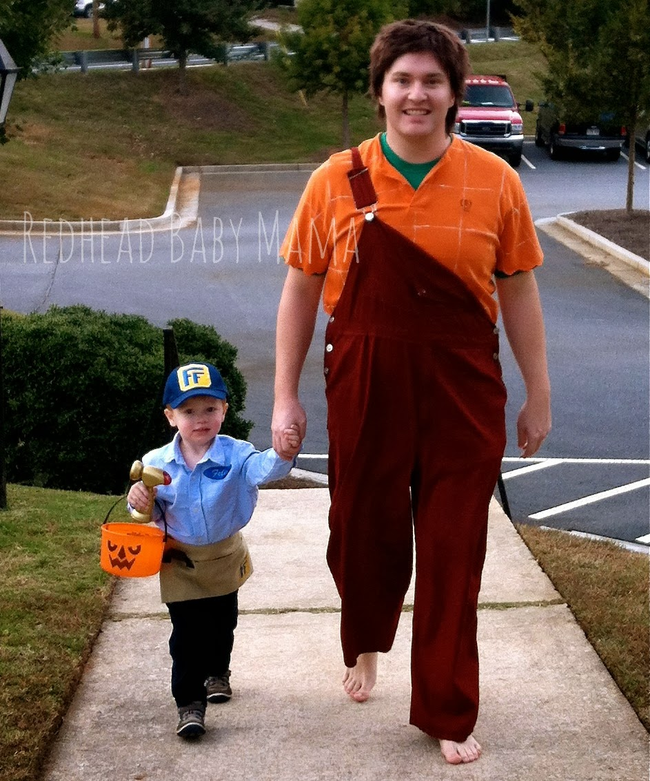 Wreck It Ralph/Fix It Felix Father and Son Costumes - Redhead Baby