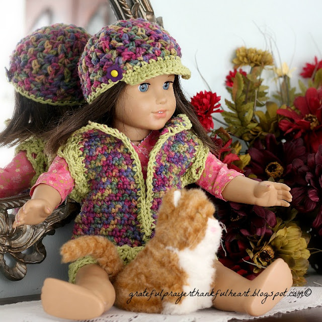 Crochet Hat Pattern American Girl Doll : With a Grateful Prayer and a Thankful Heart: for their dolls