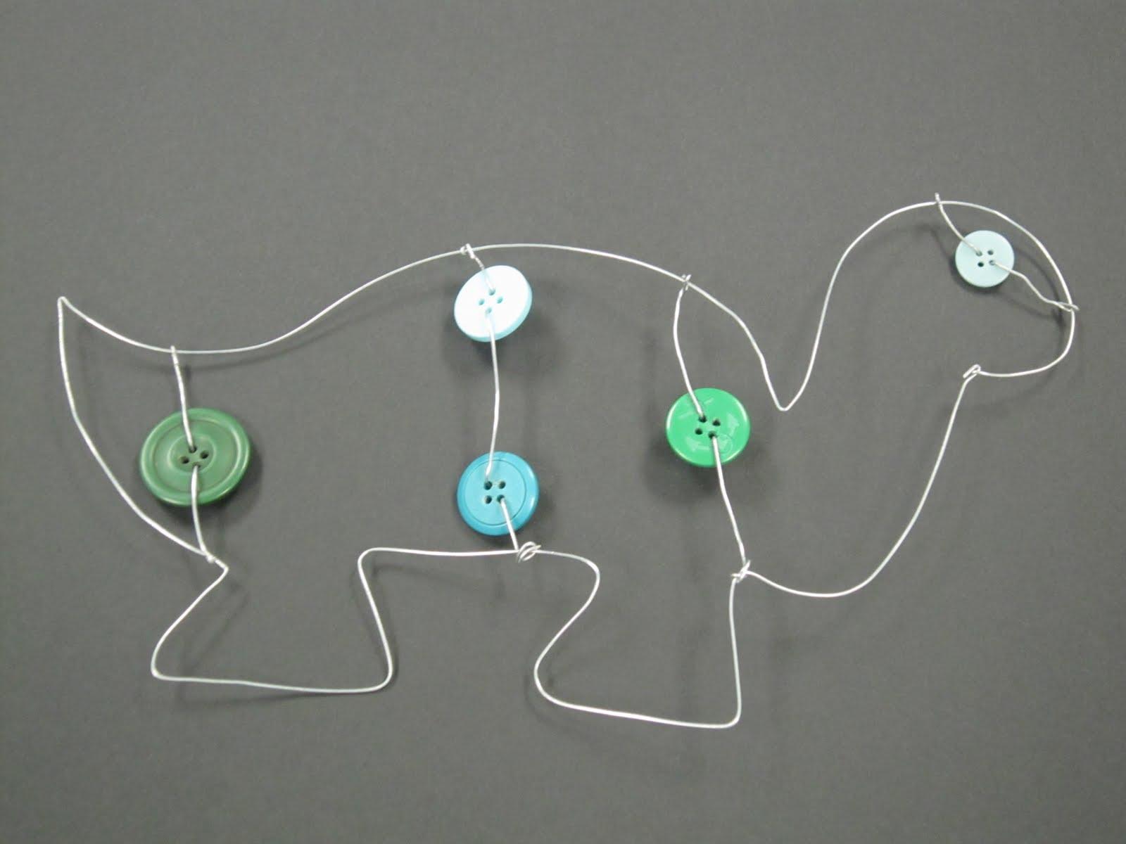 Mrs. Wille\'s Art Room: Alexander Calder inspired wire sculptures